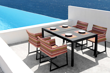 Mamagreen Outdoor Furniture, Stripe Dining Collection