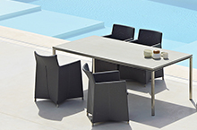 Cane-line Pure Stainless Dining Tables