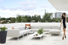 Gloster Outdoor Furniture, Bloc Deep Seating Collection
