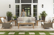 Gloster Outdoor Furniture, Pepper Marsh Deep Seating Collection