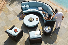 Gloster Outdoor Furniture, Plantation Modular Deep Seating Collection