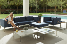 Gloster Outdoor Furniture, Wedge Deep Seating Collection