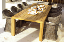 Gloster Outdoor Furniture, Havana Dining Collection