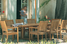 Gloster Outdoor Furniture, Kingston Dining Chairs and Benches