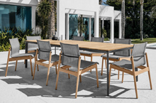 Gloster Outdoor Furniture, Sway Dining Chairs