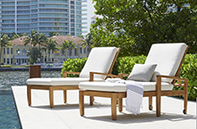 Gloster Outdoor Furniture, Oyster Reef Loungers