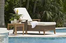 Gloster Outdoor Furniture, Pepper Marsh Loungers