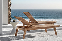 Gloster Outdoor Furniture, Solana Teak Lounger