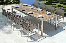 Mamagreen Outdoor Furniture, Zix Dining Collection