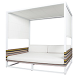Mamagreen Stripe Daybed with Canopy