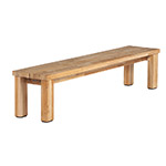 Barlow Tyrie Titan Rustic Backless Bench