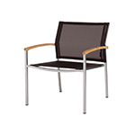 Mamagreen Zix Casual Armchair, Dark Taupe