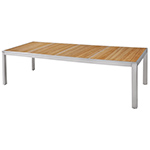 Mamagreen Zix Teak Dining Tables, Stainless