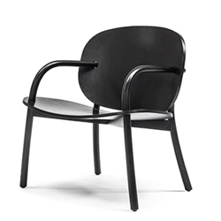 Mater Cloudy Chair by Cuto Mazuelos, Oak with Black Stain