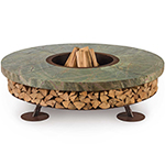 Ak47 Ercole Rain Forest Outdoor Wood-Burning Fire Pit in Green Marble or Brown Marble
