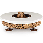 Ak47 Ercole Concrete Outdoor Wood-Burning Fire Pit in 3 colors, basic grey, white and brown