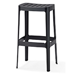 Cane-line Cut High and Low Aluminum Bar chairs Black