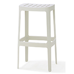 Cane-line Cut High and Low Aluminum Bar chairs White