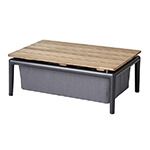 Cane-line Conic Box Table Brown or Grey