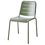 Cane-line Copenhagen Dining City Chair Olive Green Aluminum