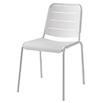 Cane-line Copenhagen Dining Side Chair Dining City Chair White Aluminum