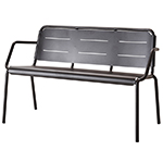 Cane-line Copenhagen Black Aluminum Bench or 2 Seater Sofa