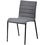 Cane-line Core Dining Side Chair Grey Aluminum Soft Touch