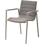 Cane-line Core Dining Armchair Brown Aluminum Soft Touch