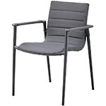 Cane-line Core Dining Armchair Grey Aluminum Soft Touch