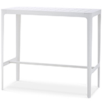 Cane-line Cut High and Low Aluminum Bar Table White