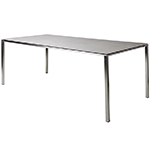 Cane-line Pure Outdoor Dining Table Stainless Steel
