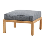 Cane-line Square Footstool Teak Soft Touch Quick Dry Foam