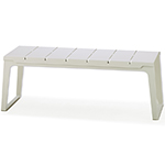 Cane-line Copenhagen White Aluminum Bench without Backrest