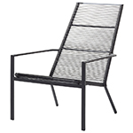 Cane-line Edge High-Back Chair Rope Aluminum Anthracite