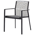 Cane-line Edge Dining Chair Aluminum Rope Anthracite