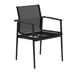 Gloster 180 Stacking Dining Armchair (Meteor/ charcoal)