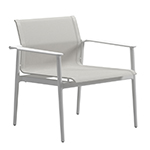 Gloster 180 Stacking Dining Armchair White/white