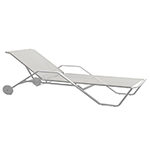 Gloster 180 Stacking Lounger (White/ white)