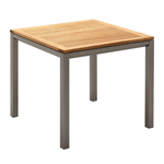 Gloster Azore Square Dining Tables, Tungsten