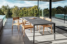 Gloster Archi Dining Chairs w/ Carver Ceramic Dining table
