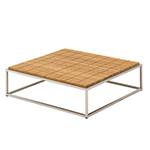 Gloster Cloud Coffee Table with Teak Top