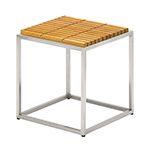 Gloster Cloud Side Table with Teak Top