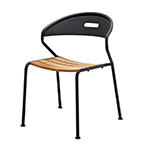 Gloster Curve Stacking Dining Chair, Meteor