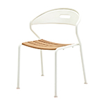 Gloster Curve Stacking Dining Chair, White