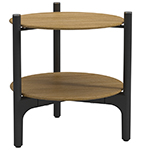 Gloster Grand Weave Side Table with Teak Tops