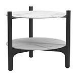Gloster Grand Weave Side Table with Ceramic Tops Bianco