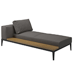Gloster Grid Left/Right Chaise Unit
