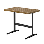 Gloster Grid Side Table with Teak Top