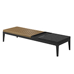 Gloster Grid Coffee Table Teak with Stone Top