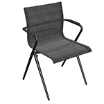 Gloster Ryder Stacking Dining Armchair (Meteor/ granite)